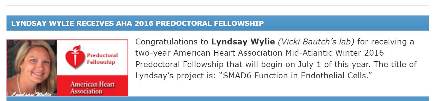 Lyndsay Wylie Predoc Fellowship
